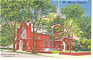 St Mary s Church Greenville SC Postcard p12131 (Image1)