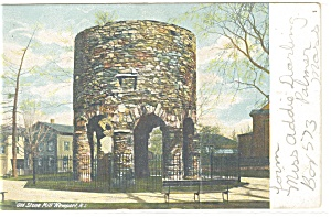 Old Stone Tower, Newport, RI Postcard (Image1)