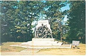 Alabama Memorial Gettysburg PA Postcard p12141 (Image1)