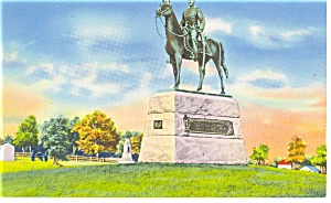 General Meade Memorial Gettysburg PA Postcard p12142 (Image1)