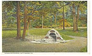 Spangler's Spring, Gettysburg, PA Postcard (Image1)
