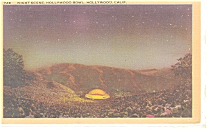 Hollywood Ca Hollywood Bowl Postcard P12181