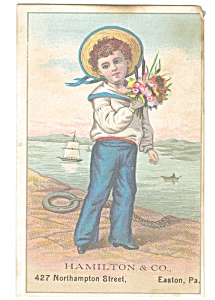 Hamilton and Co Easton PA Trade Card p12186 (Image1)