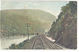 View of Tracks through Jack s Narrows  PA Postcard 1908 p12208 (Image1)