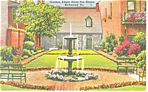 Richmond,VA, Edgar Allen Poe Shrine Postcard 1940 (Image1)