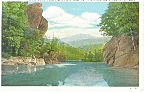 Camel's Hump From Winooski River VT Postcard (Image1)