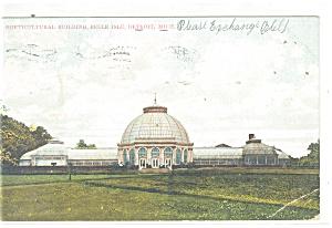 Detroit, MI , Belle Isle Hort. Bldg Postcard 1906 (Image1)