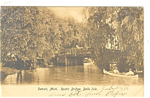Detroit, MI , Belle Rustic Bridge Postcard 1906 (Image1)