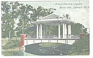 Detroit MI  Belle Isle Lagoon Postcard p12290 (Image1)