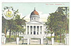Montpelier, VT, The State Capitol Postcard (Image1)