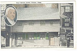 Boston MA Paul Revere House Postcard p12309 (Image1)