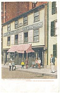 Boston MA Home of Paul Revere Postcard p12313 (Image1)