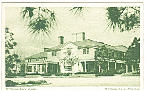 Williamsburg, VA, Williamsburg Lodge Postcard (Image1)