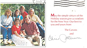 Christmas Card From the Carvers Political  Postcard (Image1)