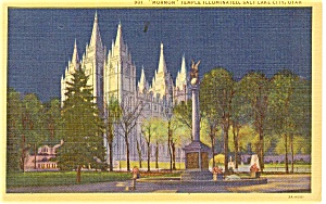 Salt Lake Utah Mormon Temple  Postcard p1235 (Image1)