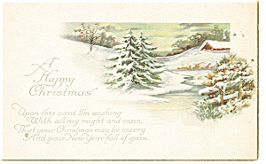 A Happy Christmas ,Vintage Postcard (Image1)