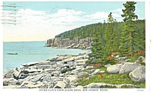 Bangor ME Otter Cliffs Postcard p12388 1931 (Image1)