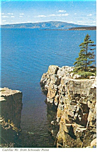 Cadillac MT from Schoodic Point, ME Postcard (Image1)