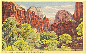 Temple of Sinawava  Utah Postcard (Image1)