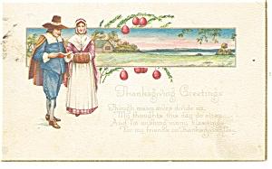 Thanksgiving Postcard Pilgrims 1922 p12410 (Image1)