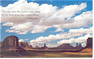 O Sing unto the Lord a new song...Psalm 98:1 Postcard (Image1)