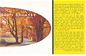 God S Country Postcard P12480