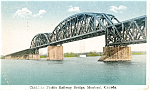 Canadian Pacific Railway Bridge Postcard 1931 p12535 (Image1)