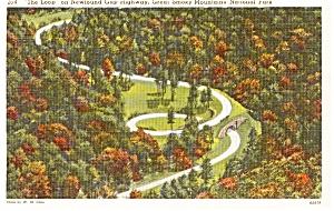 Loop Over Great Smokey National Park TN Postcard p1255 (Image1)