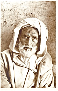 Old Algerian Tribesman Postcard Algeria p12564 (Image1)
