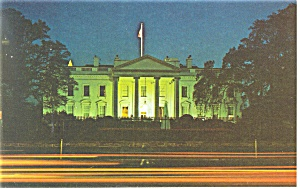 Washington,DC, White House at Night Postcard (Image1)