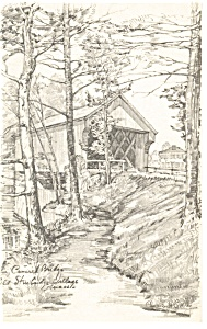Covered Bridge Old Sturbridge Village MA Postcard p12575 (Image1)