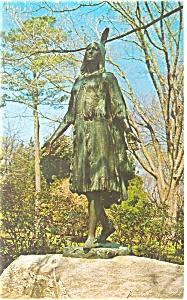 Jamestown  VA   Pocahontas Statue Postcard p12577 1973 (Image1)