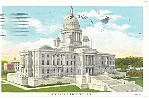 Providence, RI, State Capitol Postcard 1932 (Image1)
