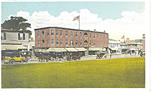 Narragansett Pier, RI, The Square Postcard 1934 (Image1)