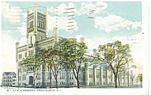 Providence, RI, State Armory Postcard 1934 (Image1)