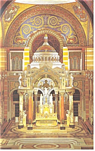 St Louis,MO, Cathedral Main Altar Postcard (Image1)