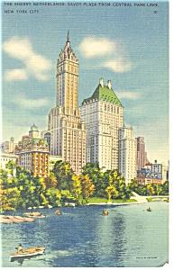 Sherry Netherlands Savoy Plaza New York Postcard p12606 (Image1)