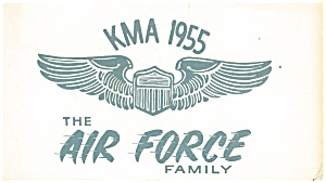 Qsl Card Kma 1955 The Air Force Family P12650