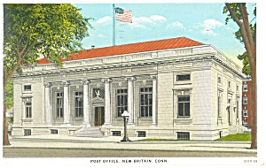 Post Office at New Britain, CT, Postcard 1931 (Image1)