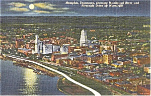 Memphis Tennessee Riverside Drive  Postcard (Image1)