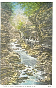 Pool of the Nymphs,Watkins Glen, NY, Postcard 1938 (Image1)