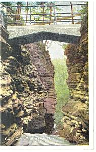 Cavern Gorge,Watkins Glen, NY, Postcard 1927 (Image1)
