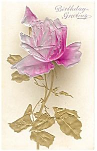 Birthday Postcard p12697 Embossed Rose 1908 (Image1)