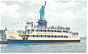 Circle Line Statue Ferry Postcard p12701 (Image1)