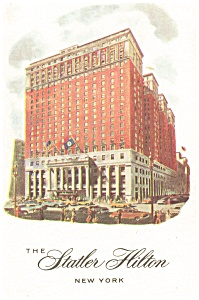 New York City NY Statler Hilton Postcard p12702 (Image1)
