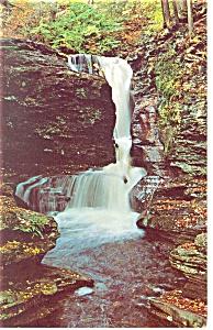 Adams Falls PA Postcard p12708 (Image1)