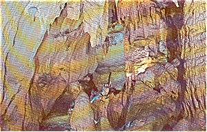 Bristol Caverns TN Wishing Rock Postcard p1271 (Image1)