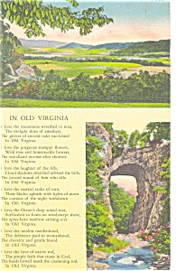 In Old Virginia Poem Postcard (Image1)