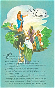 The Beatitudes Matthew 5:3-12 Postcard p12734 (Image1)