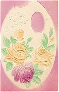 Birthday Postcard p12741 Roses ca 1907 (Image1)